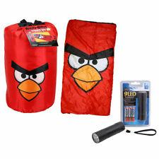 ANGRY BIRDS RED Kids Camping Slumber Sleeping Bag + Backpack + LED Flashlight