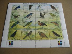 ST KITTS     1999       BIRDS OF THE EASTERN CARIBBEAN  SHEETLET