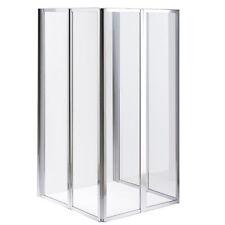 �œ… Melko® 2x 3teilige Glas Duschabtrennung Badewannenaufsatz Faltwand Duschwand