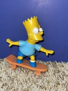 Vintage 1990 TCFFC The Simpsons Bart Simpson on Skateboard Action Figure Toy