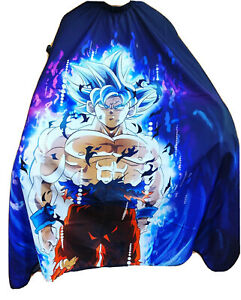 """Dragon Ball Z Barber Hair Cutting and Styling Cape 55""""X60"""" (Clips)"""