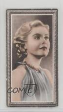 1936 Godfrey Phillips Stars of the Screen Tobacco Base #35 Jean Muir Card 2u1