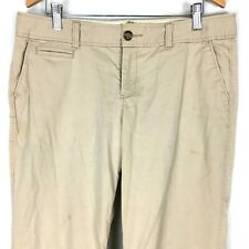 Old Navy Womens Pants 10 Long Beige Khaki Chino Stretch Cotton Blend Casual