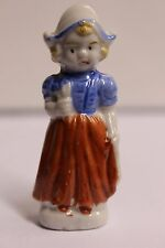 Lovely Antique Porcelain Dutch Girl Figurine Statuette Handpainted
