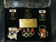 Set of Six 3M Olympic Pins Calgary and Seoul