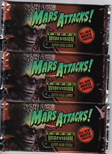 1996 TOPPS MARS ATTACKS WIDEVISION TRADING CARD PACKS - 3 UNOPENED PACKS