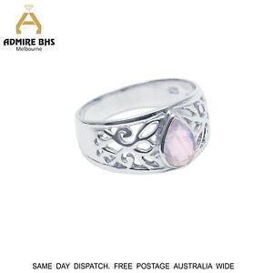 Moonstone Ring Gemstone Fine Handmade 925 Sterling Silver Ring Multiple Sizes