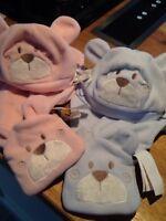 BNWT iDo Baby Fleece Hat & Scarf Set L104
