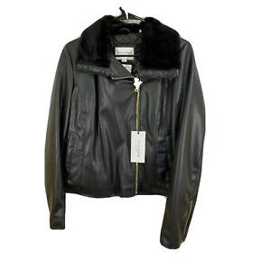 Black Medium Cole Haan Women's Leather Jacket signature jacket