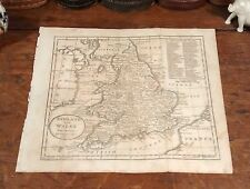 Rare Original 1805 Jedidiah Morse Antique Map ENGLAND WALES London Liverpool UK