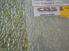 "Dichroic Glass:CBS 90 COE Emerald Green on Rippled Textured Clear - 3""Sq"