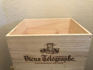 Wine Box Case Wooden Crate 6/750ml Domaine Vieux Telegraphe