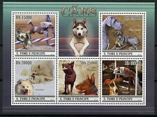Sao Tome & Principe Dogs Stamps 2010 MNH Whippet Kelpie Samoyed 5v M/S