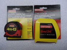 Craftsman NOS Locking Tape Measure Set, 13 ft & 26 ft - Part # 92247/92236