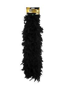 Black Feather Boa - Costume Accessory Fancy Dress Up Flapper 1920's Hen Night
