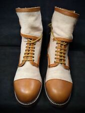 See By Chloe Caramel Leather & Canvas Boots Women US 10.5 /40.5