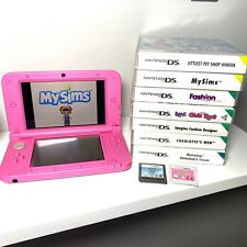 Consola Nintendo 3DS XL Rosa | Paquete De Juegos x9 | Funda De Transporte | Perfecto Estado