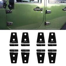8 Pcs Black Door Hinge Cover Trim for 4 door Jeep Wrangler Jk 2007-2017