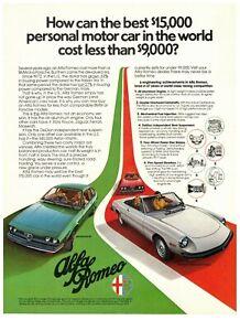 1977 Alfa Romeo GT 2000 Spider Veloce Vintage Car Print Ad / 20th Century Events