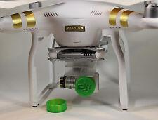 2Pc 3D Printed Lens Cover Cap DJI Phantom 3 Professional / Advanced Camera GREEN