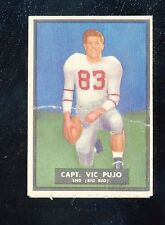"""1951 Topps Magic #57   Vic Pujo   """"unscratched""""    """"creased""""    LOOK!!"""