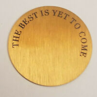 Origami Owl Jewelry Retired 22mm Gold Large Locket Plate The Best Is Yet To Come