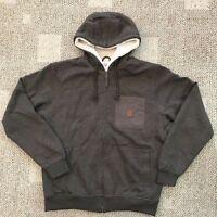 Coleman Men Full Zip Fleece Lined Hoodie Sweatshirt Work Jacket Lrg Oak Heather