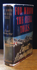 FOR WHOM THE BELL TOLLS (1940) ERNEST HEMINGWAY SIGNED 1ST EDITION 1ST STATE DJ