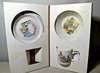 Wedgwood Peter Rabbit Original 3 Piece Dish Set Beatrix Potter Cup Bowl Plate