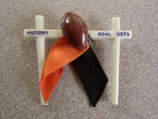 >Vintage FOOTBALL PIN BACK *Victory Goal Posts* Oregon State? Oklahoma State?