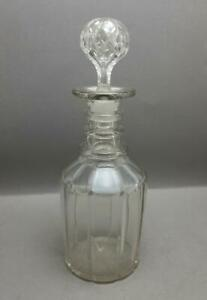 ANTIQUE GEORGIAN WILLIAM IV EARLY VICTORIAN 3 RING AND CUT GLASS DECANTER 1835