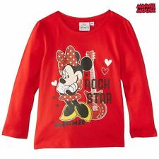 TEE SHIRT manches longues MINNIE 6 ans rouge DISNEY Minnie Mouse Enfant