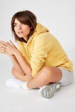 Factorie Basic Hoodie Fleece Tops  In  Yellow