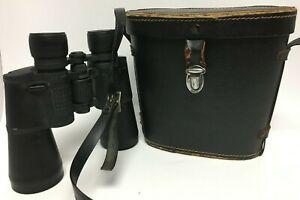 Emerson 7 x 50 vintage Binoculars w /coated optics and vintage hard shell case