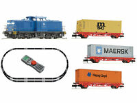 Fleischmann 931882 - DCC Digitales Startset BR 204 mit Containerzug PRESS Ep.VI