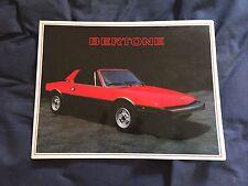 1980s Fiat X19 by Bertone USA Market  Original Brochure Prospekt