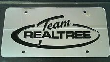 REALTREE 3D Acrylic License Plate Mirror Chrome & Black