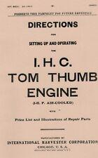 International Tom Thumb Engine 1 Hp Air Cooled Gas Engine Motor Book