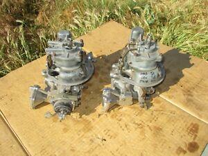 2 Holley Ford Teapot Carburetors 2x4 Dual Quad Carbs T-Bird Thunderbird