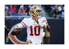 Jimmy Garoppolo (2) San Francisco 49ers signed poster. Choice of frame.