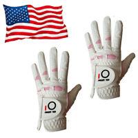Women's Lady Golf Glove Value 2 Pack Performance Grip Rain Wet Hot Weather