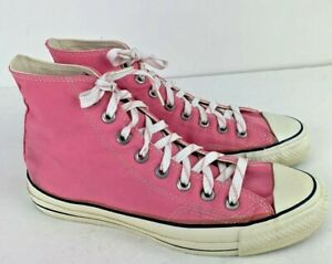 Vintage Converse All Star Pink Canvas High Hi Top Chuck Taylor USA Made Size 7.5