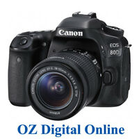 NEW Canon EOS 80D +18-55 STM Kit 24.2MP Wifi NFC FullHD DSLR Camera 1 YearAuWty