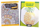 Adults Color by Number Activity Book Mandalas Adult Coloring Books Set of 2 NEW