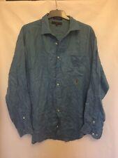 Tommy Hilfiger Mens Blue Linen Long Sleeve Shirt XL/TG(C861)