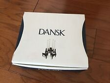 Box of 6 Dansk JHQ Triangular Metal Candle Holders Jens H Quistgaard