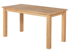 BRAND NEW RRP £199 Madison Dining Table 150cm - Oak Stain