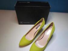 NIB INC Classic High Heel Pump Yellow Chartreuse Sueded  110 M