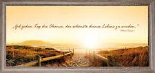 Bilder Wandbild Keilrahmen Leinwand Strand Sonnenuntergang Sprüche Art .23998