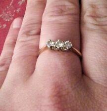 Stunning Vintage 0.25ct Diamond Trilogy Ring 18ct Gold 2g size N 1/2